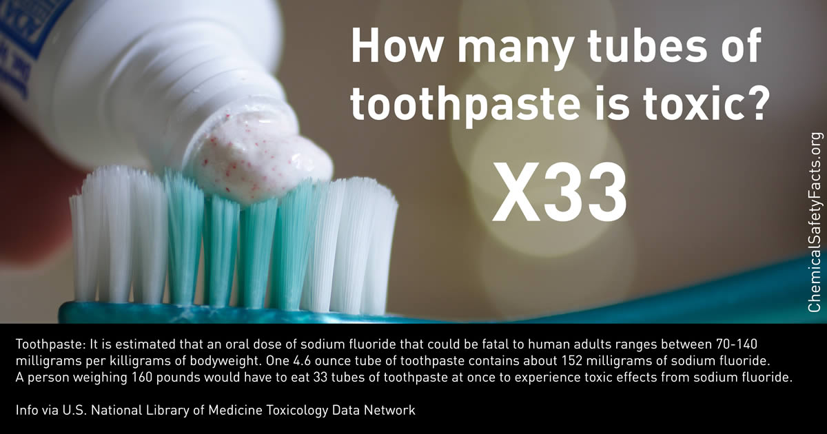 How many tubes of toothpaste is toxic?